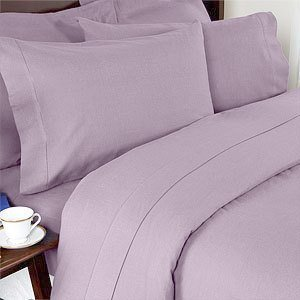 Set Of 2 Solid Lilac King Size Pillowcases 300 Thread Count 100% Egyptian Cotton By Sheetsnthings front-1009344