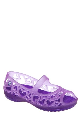 Crocs Kid's Adrina Hearts Open Toe Flat Shoe