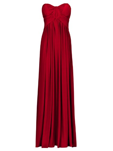FourFlavor Elegantes Abendkleid lang, rot (S)