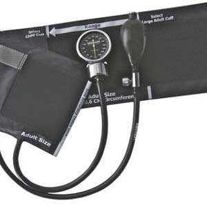 Cheap Optimum Aneroid Sphygmomanometer, Black Nylon Cuff, Adult, Latex Free (20-108-014)