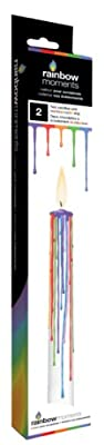 Boxer Gifts Candles with Multi Drip, Pack of 2, White from Boxer Gifts