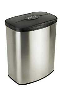 Nine Stars DZT-8-1 Infrared Touchless Stainless Steel Trash Can, 2.1-Gallon