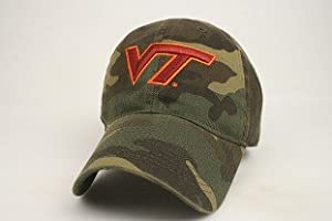 Legacy Virginia Tech Hokies Army Camo Adjustable Slouch Hat Cap by JAGZ