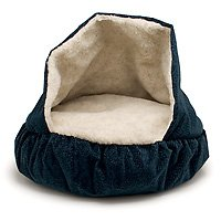 Petmate 25-Inch Burrow Bed, Navy Blue by Petmate