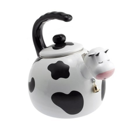 Home-X Cow Tea Kettle, 2.5 Quart Whistling Teakettle