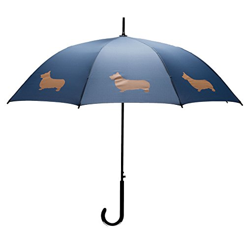 The San Francisco Umbrella Company Welsh Corgi Stick Umbrella, Navy Blue/Tan (Umbrella Company compare prices)