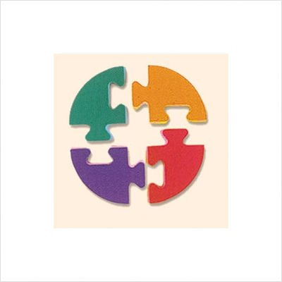 Picture of Edushape Edutiles Wavy Frame 4 Corner Pieces for Edutile Foam Playmats (B00111AZ2U) (Puzzle Play Mats)