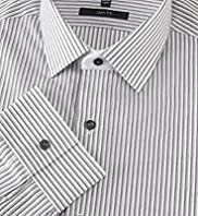 Autograph Pure Cotton Shadow Striped Shirt