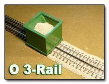 O Scale Ballast Spreader 3 Rail