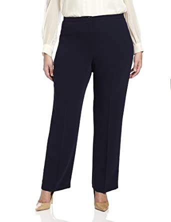 Pendleton Women's Plus-Size Destination Pants, Midnight Navy Travel Tricotine, 16W