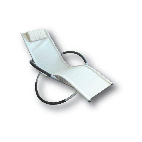 Proteam MF1120 - Moon Rocker Cream Textiline indoor / outdoor garden chair