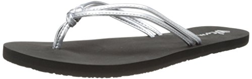 Volcom Women's Forever and Ever Flip Flop,Silver,7 M US