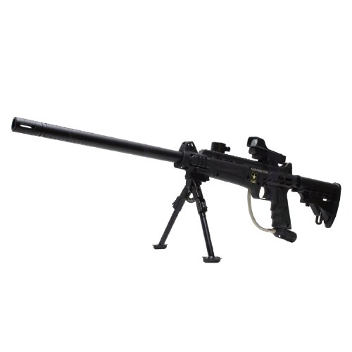 Tippmann US Army Carver One Paintball Gun with Red Dot Reflex Sight Bipod Stock 18