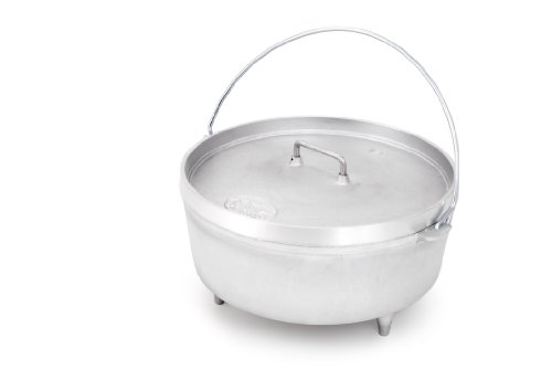 GSI Outdoors 12-Inch Aluminum Dutch Oven (Silver, 5-Quart)