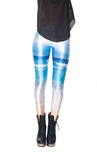 Women'S Fashion Digital Print Sea Pattern Sexy Leggings