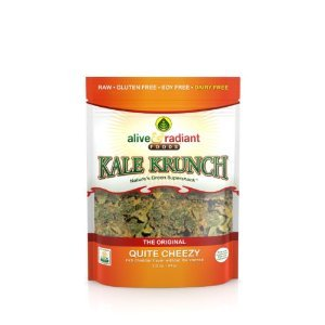 Alive and Radiant Kale Krunch, Quite Cheezy, 2.2 Ounce (Pack of 3)