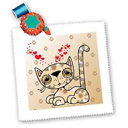Cute Calico Kitty - 10x10 Inch Quilt Square