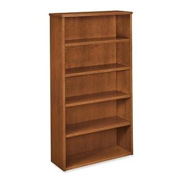 Basyx 5-Shelf Veneer Bookcases-5-Shelf Bookcase, 35-5/8quot;x13quot;x66quot;, Bourbon Cherry