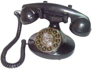 Paramount Alexis 1922 Decorator Phone BLACK