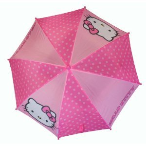 Umbrella - Hello Kitty - Polka Dot Kids Umbrella by Sanrio