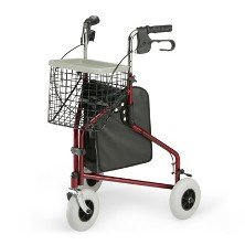 Three Wheeled Rollator with tote bag, basket and food tray (Three Wheeled Walker compare prices)