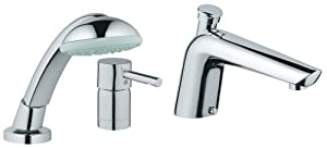 GROHE 32 232 000 Essence Roman Tub Filler with Personal Hand Shower, Chrome