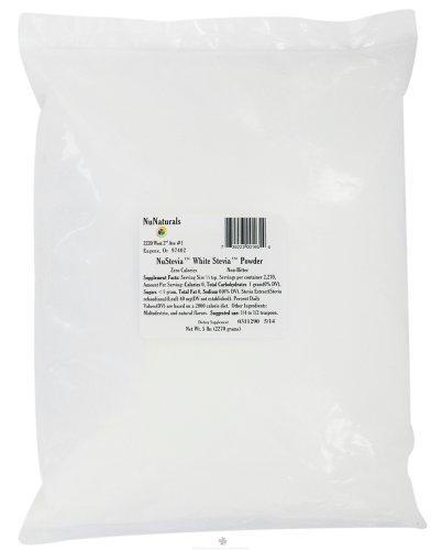 Nunaturals Nusteiva White Stevia Powder, 5 pounds