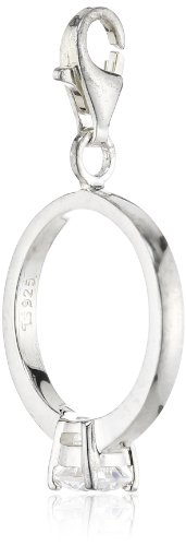 Thomas Sabo Damen-Charm Club-Anhänger Verlobungsring mit einem gefassten weißen Zirkonia 925er Sterlingsilber 0330-051-14