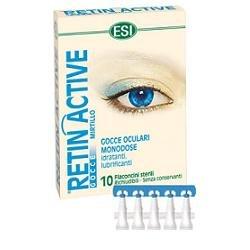 Esi Retin Active gocce oculari monodose idratante e lubrificanti 10 flaconcini sterili