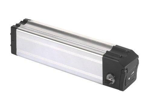 Unbekannt Akku Lithium Ionen Akku für Pedelec (Model Sitzrohr) 24V 10A, silber