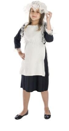 Girls Victorian Maid Fancy Dress Costume Age 4-6