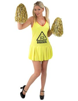 Adult Official Brainiac Cheerleader Sexy Costume Small
