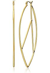 Trina Turk Sole West Gold-Plated Large Hoop Earrings