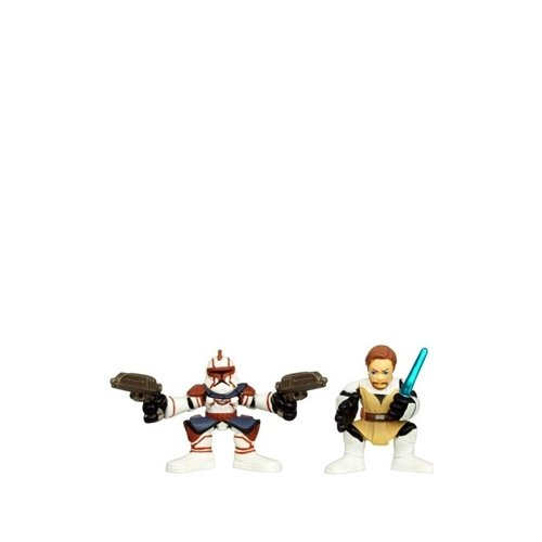 Star Wars 2010 Galactic Heroes 2Pack ObiWan Kenobi Commander Fil
