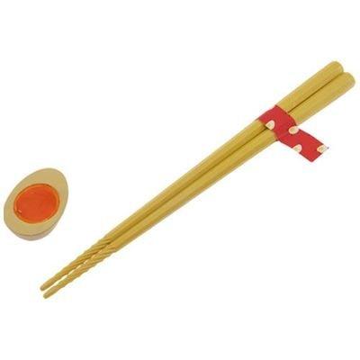 アルタ すべらせん箸 (上) とラーメンの具の箸置きセット 向日葵 & 煮玉子 AR0623235