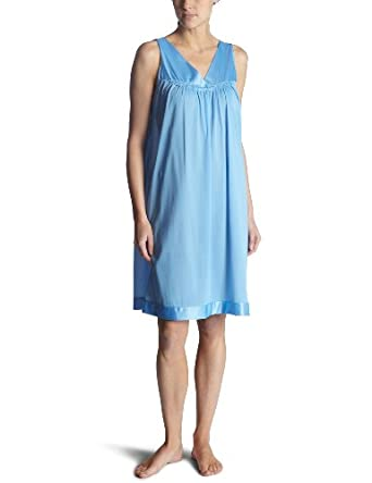 Vanity Fair Sleeveless V-neck Sleepwear Gown PURITY BLUE X-Large