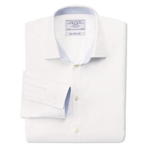 Charles Tyrwhitt White business casual extra slim fit shirt (15.5 - 35)