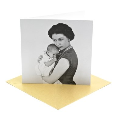 Queen Elizabeth II and Prince Andrew Greeting Card