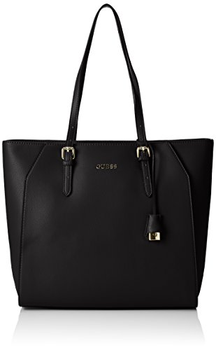 Guess Sissi Medium Tote Borsa a Mano, Donna, Nero