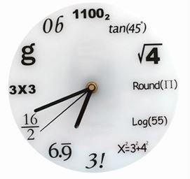 理系向け 数学 ウォールクロック マスタイム -