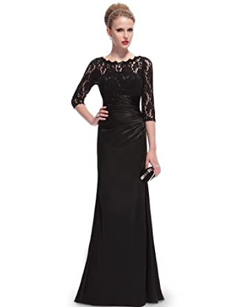 Long sleeve long evening dresses uk