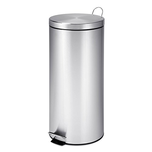 honey-can-do-trs-02110-poubelle-ronde-en-acier-inoxydable-metal-chrome-292-x-292-x-635-cm-30-l