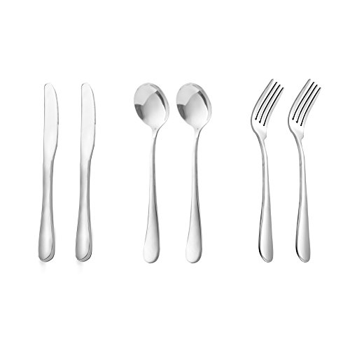 MIU COLOR Tableware Set - with Table Spoons, Dinner Knife and Dinner Forks Stainless Steel with 6-piece (Fork Knife And Spoon compare prices)