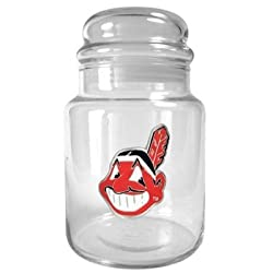 Cleveland Indians 31oz Glass Candy Jar - Primary Logo MLB Baseball