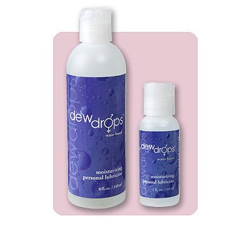 (2 PK) Dew Drops 8 oz Water Based Plus 2 oz Personal Lubricant - Lubricants - Sex Lube - Sexual - Sensual - Enhancements - Enhancers - Erotica - Intimacy - Vaginal Dryness
