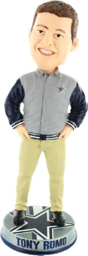 Tony Romo Dallas Cowboys Varsity Jacket Bobblehead Qb Series Limited Edition at Amazon.com