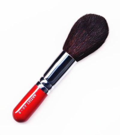 竹宝堂化粧筆 パウダーブラシ 20ー5 赤軸 熊野筆
