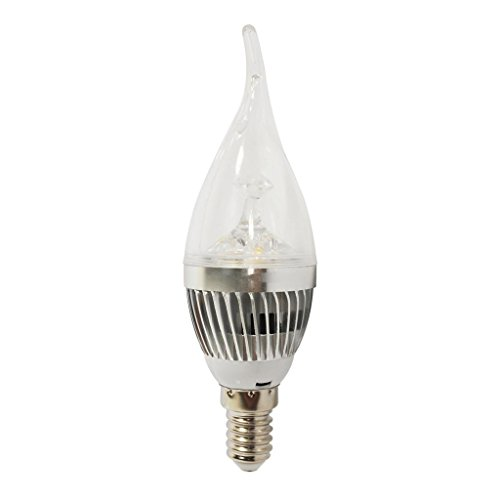 Energy Saving High Power Overclocking Lights Warm White Silver 9W E14 Led Candle Light Bulb-10Pieces