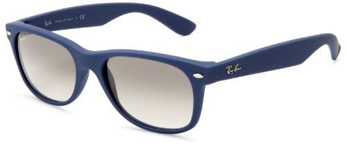 Ray-Ban RB2132 New Wayfarer Sunglasses,Light Blue Frame/Grey Lens,55 mm