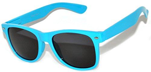 Retro 80's Vintage Smoke Lens Sunglasses Light Blue Frame (Light Blue Sunglasses compare prices)